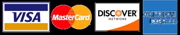 Four Major Credit Card Logos